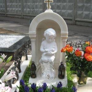 Детский памятник с колоннами и фотокерамикой №212