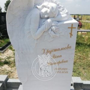 Спящий ангел из мрамора на могилу