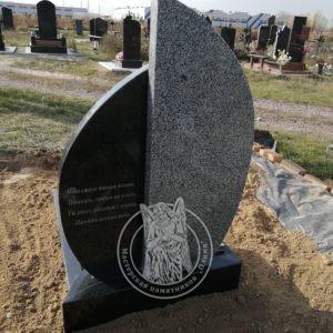 Одинарное надгробие из гранита