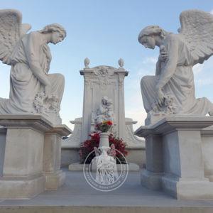 Мемориальный мраморный комплекс с ангелами №233