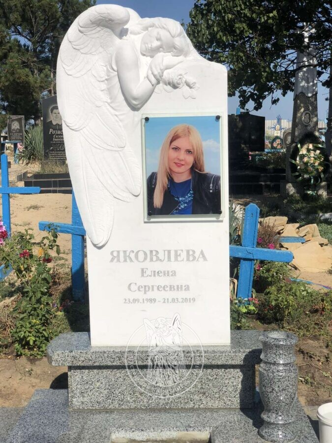 мраморный ангел на могилу