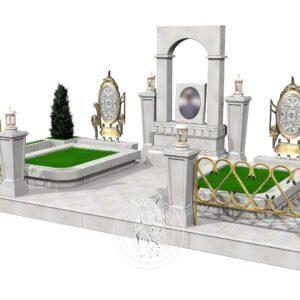Модель памятника в 3Д макете №385