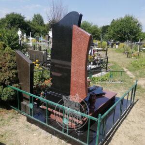 комбинированный памятник из гранита