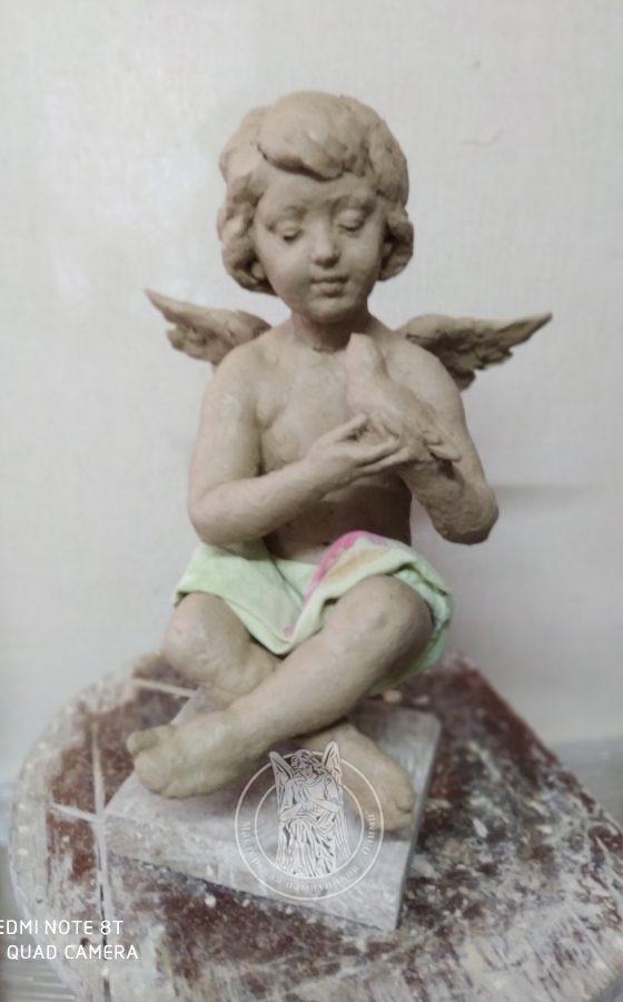 лепка ангелочка