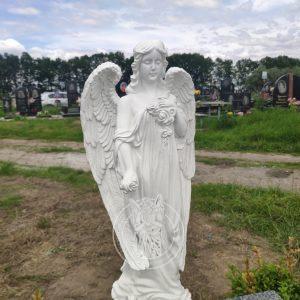 Детский памятник с ангелочком № 153 установлен на Броварском кладбище.
