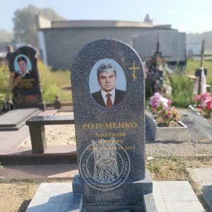 Памятник из серого гранита и фотокерамикой  овальной фомы №162 установлен в г.Бровары на новом кладбище