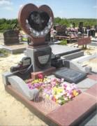 Гранитный памятник с цветным портретом № 334