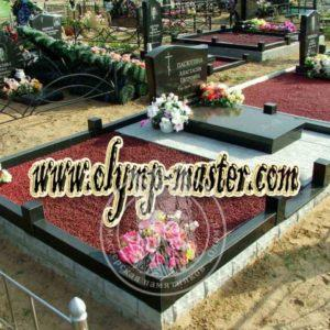 Щебень на  кладбище №35