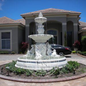 Элитный фонтан из мрамора во дворе №62 Цену:Уточняйте!