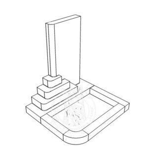 Памятник из белого и зеленого мрамора №201