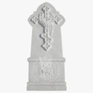 Надгробие из мрамора с к резным крестом № 86 Цена: Уточняйте!