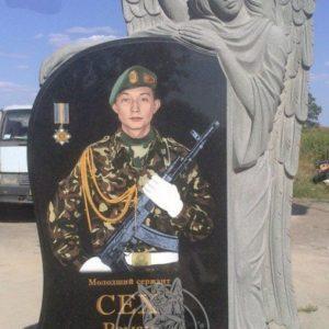 Памятник со скорбящим  ангелом  бойцу АТО № 17
