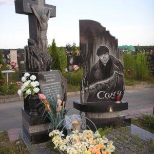 Памятник из  гранита с крестом № 227 Цена: Уточняйте!