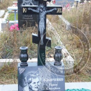 Памятник православный Крест с баяном установленный на Северном кладбище Киева №226 Цена:Уточняйте!