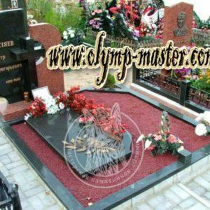 Щебенка на могилу цветная №9