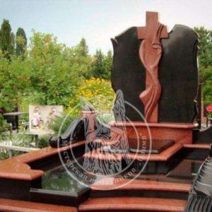 Двойное надгробие с крестом № 183
