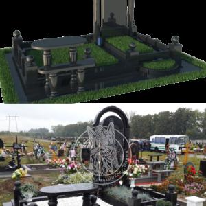 Надгробие с Колоннами из гранита №141