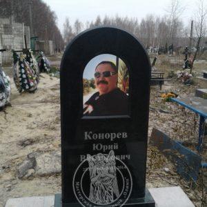 Памятник из гранита с керамикой форма купола №15 на северном кладбище в Киеве