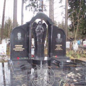 Двойное надгробие из гранита с ангелом  №188
