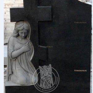 Крест резной фигурный ангела  гранит  (Габбро) №225 Цену:Уточняйте!