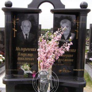 Двойное надгробие из гранита габбро № 189