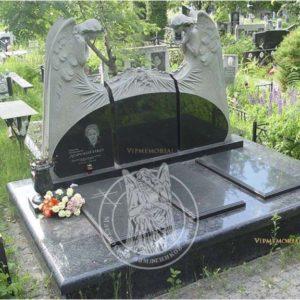 Надгробие с двумя ангелами из гранита №187