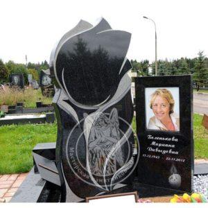 Одинарное надгробие  тюльпан № 322