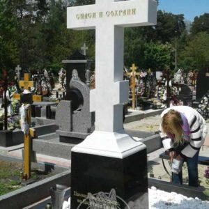 мраморный памятник Крест фото