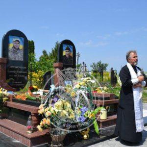 Памятники из гранита бойцам АТО № 25