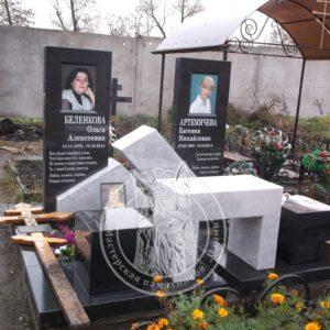 Памятник для двоих из гранита № 201