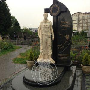 Памятник скульптура бойцу АТО № 28