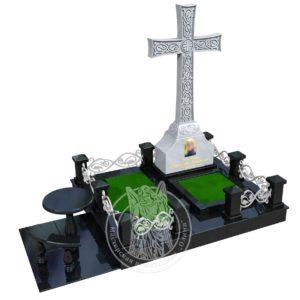 Мемориальный комплекс  из мрамора с крестом № 349