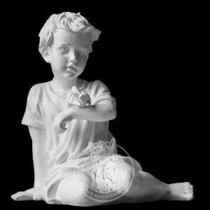 Скульптура мальчика с птицей № 23