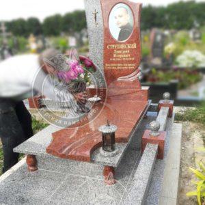 Памятник из гранита с фото на керамике (Установлен на кладбище г.Бровары)№ 73