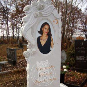 Ангел из бронзы с фото керамикой №8