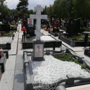 Мраморный крест на могилу №93