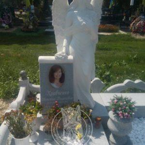 Мраморный ангел  ростовая скульптура №56