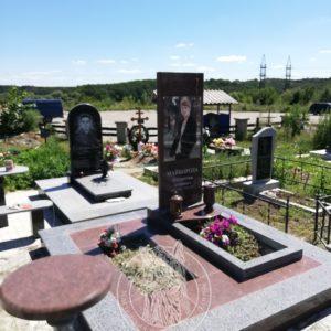 Гранитный памятник с большой фото керамикой на кладбище в г. Белая Церковь Киевской обл. №96