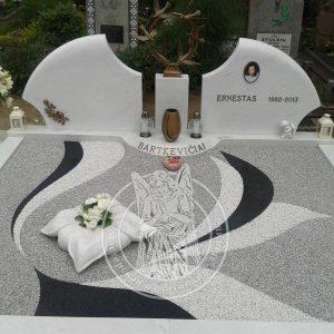Двойное надгробие из мрамора №190