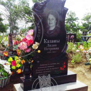 Памятник из гранита с цветными розами в г.Рени Одесской обл. № 29
