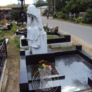 Мраморная скульптура плачущей девы № 25