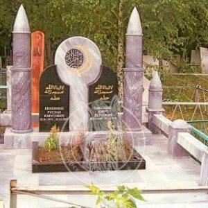 Надгробие из гранита для Мусульман № 19