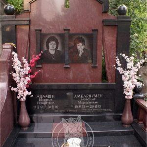Памятник из гранита  двойной  № 23