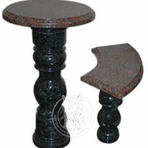 Комплект стол с лавкой № 14