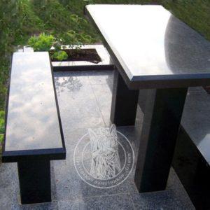 Стол  квадратный из гранита № 22