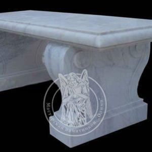 Скамейка из мрамора Коелга № 7