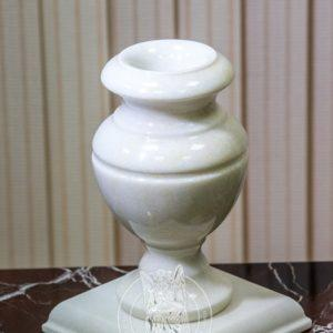 Мраморная вазочка на могилу № 17