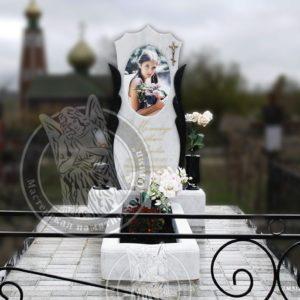 Мраморный памятники с фотокерамикой № 120  изготовлен и установлен на могилу в Одесской обл.г. Южный