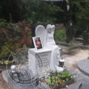 Комплекс мрамор  с гранитом изготовили и установили в Киеве кладбище Берковцы, фото на керамике на мраморной подставке №111 Цена:Уточняйте!